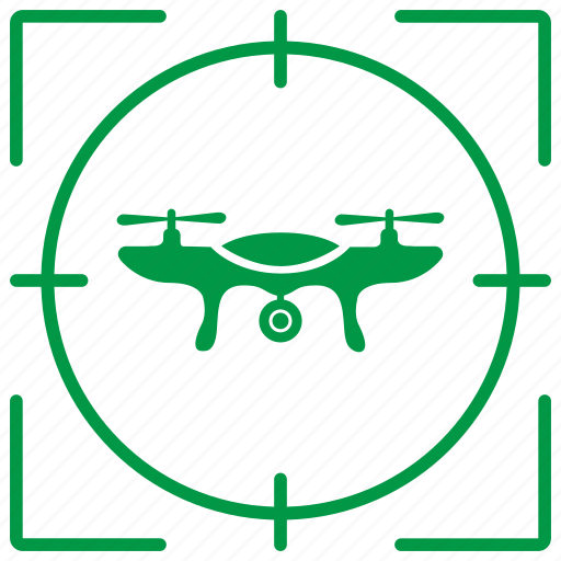 camera, drone, flight, robot, target, view icon