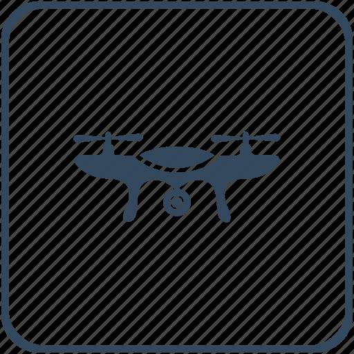 camera, drone, flight, robot, view icon