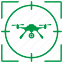 army, camera, drone, flight, record, robot, view icon