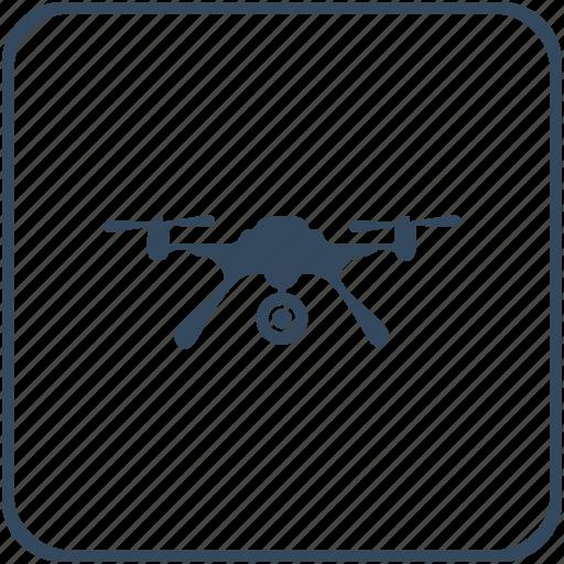 army, camera, drone, flight, record, robot, view icon