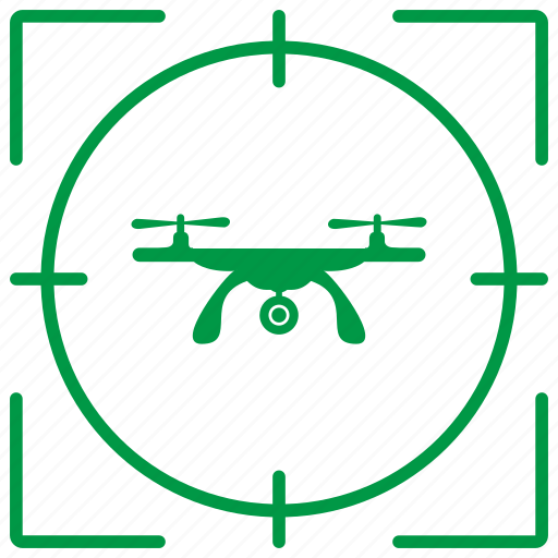 delivery, drone, robot, target icon