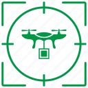 delivery, drone, fly, robot, target icon