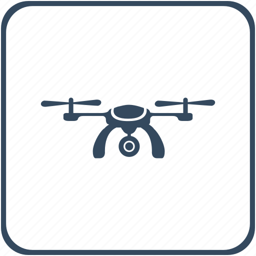 camera, drone, fly, modern, record, robot icon