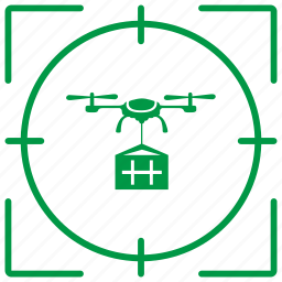 delivery, drone, flight, fly, robot, service, target icon