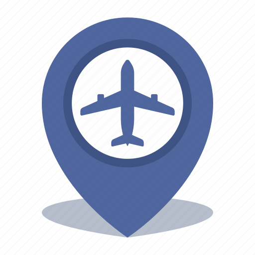 airport, gps, location, map pin, pin icon