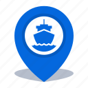 gps, map pin, pin, port location icon