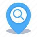 find, gps, location, map pin, pin, search icon