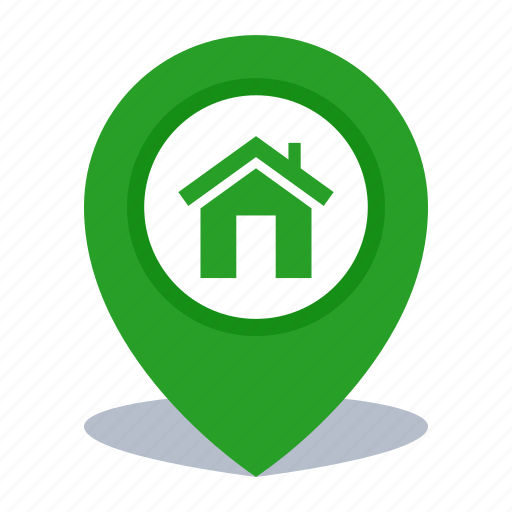 gps, home rental, location, map pin, pin icon