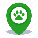 gps, location, map pin, pet shop, pin, veterinary icon