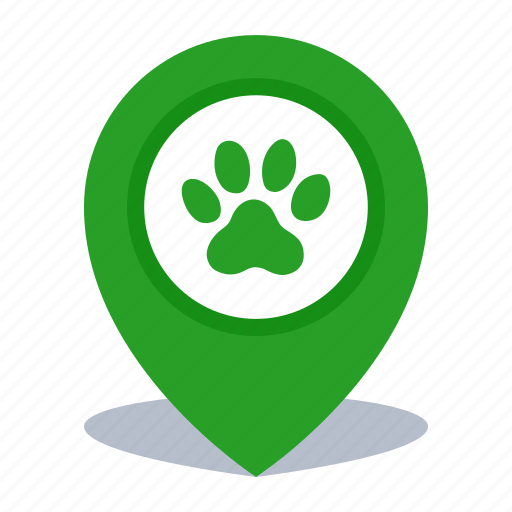 gps, location, map pin, pet shop, pin, veterinary icon
