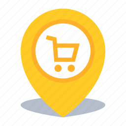 gps, map pin, pin, shop, store location icon