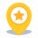 favorite, gps, location, map pin, pin icon