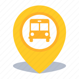 bus station, gps, location, map pin, pin icon