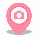 camera, gps, location, map pin, photos icon
