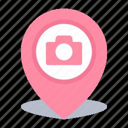 camera, gps, location, map pin, photos icon