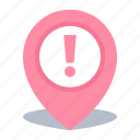 gps, location, map pin, pin, road problems icon