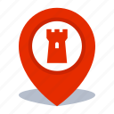 gps, landmark location, map pin, pin icon