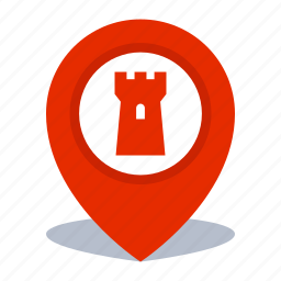 gps, landmark location, map pin, pin icon
