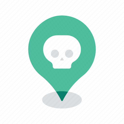 deadly, lethal, location, map, navigation, pin, virus icon