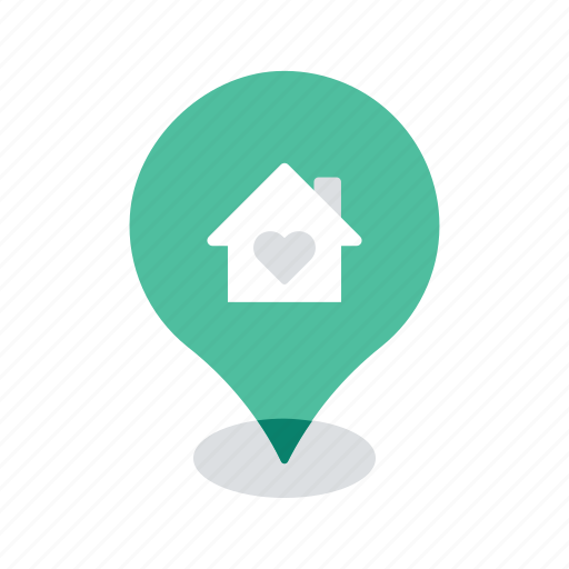 favourite, home, location, map, navigation, pin, pointer icon