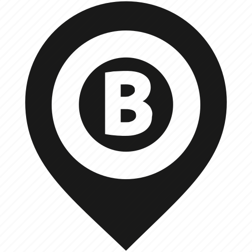 Location, map, marker, navigation, pin, pointer, letter b icon - Download on Iconfinder