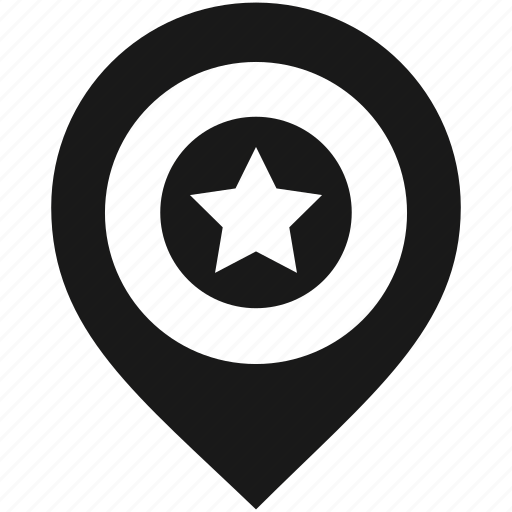 Location, map, marker, navigation, pin, pointer, star icon - Download on Iconfinder