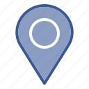 map, pin, travel icon