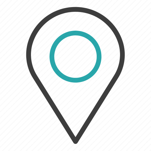 map, pin, travel icon