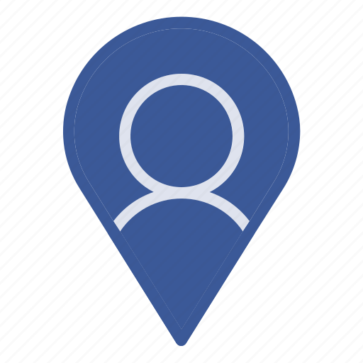 map, on, the, travel, user icon