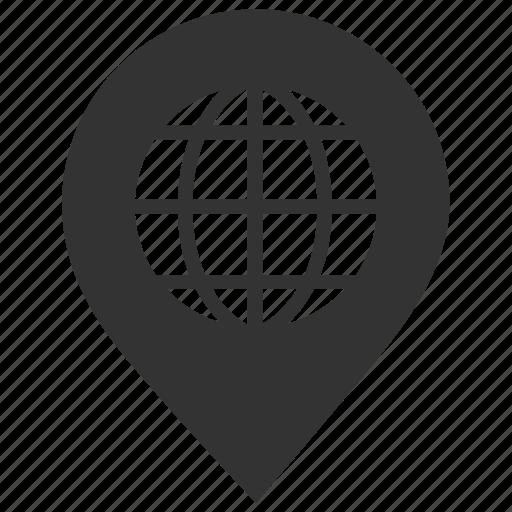 geo, global, international, map, navigation, pin, targeting icon