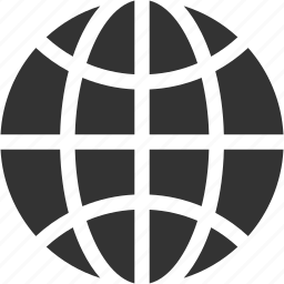 circular grid, earth grid, global, globe grid, internet grid icon