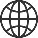 circular grid, earth grid, globe grid, grid, internet grid, planet icon
