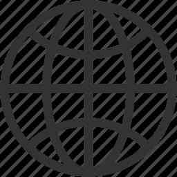circular grid, earth grid, globe grid, grid, internet grid, planet icon