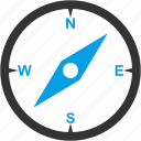 compass, directions, navigate, navigation, north, west icon