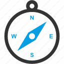 arrows, compass, direction, location, north, south icon