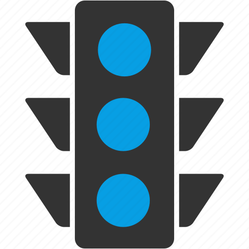 accident, car, light, traffic, traffic light, transportation icon