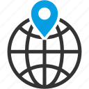 location, marker, locate, circular grid, earth grid, globe grid