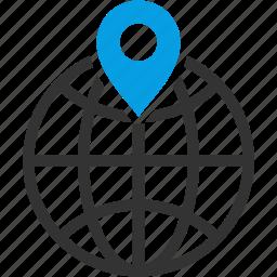 circular grid, earth grid, globe grid, locate, location, marker icon
