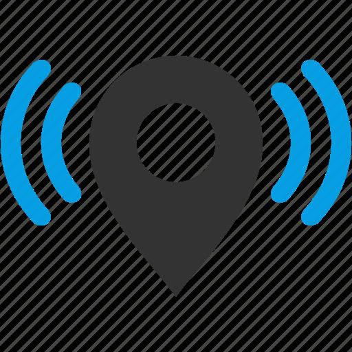 area, gps, location, map, marker, wifi icon
