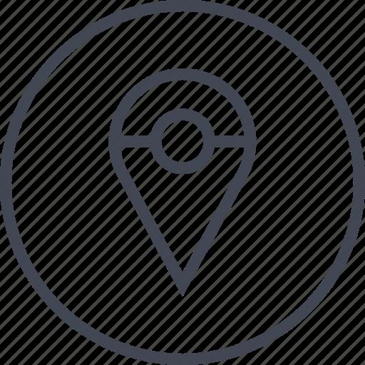 locaiton, map, pin icon