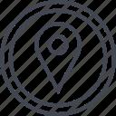 google, pin, point icon