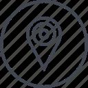 gps, locate, pin icon