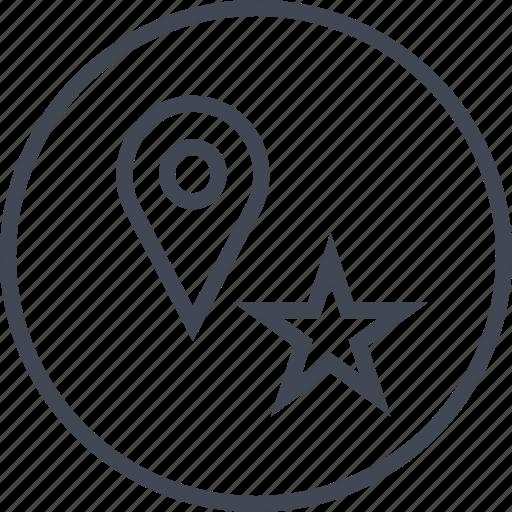 gps, pointer, star icon