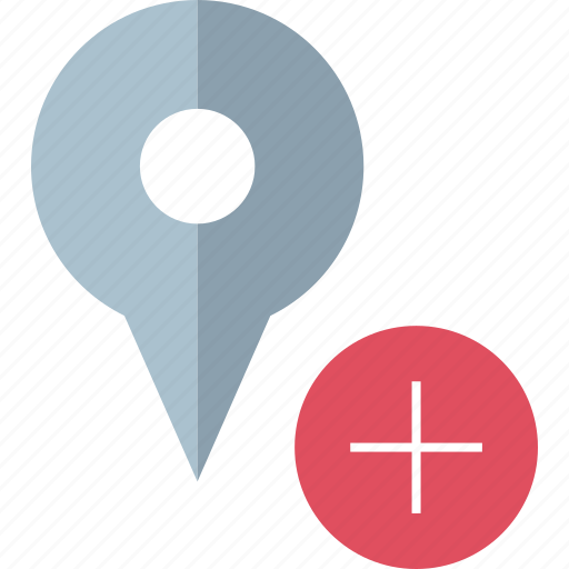 add, map, pin icon