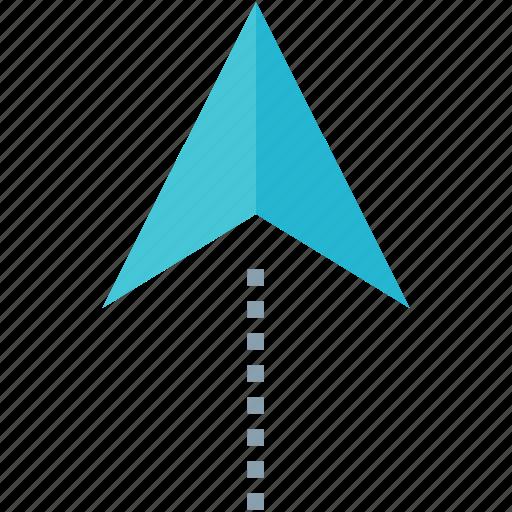 arrow, pin, up icon