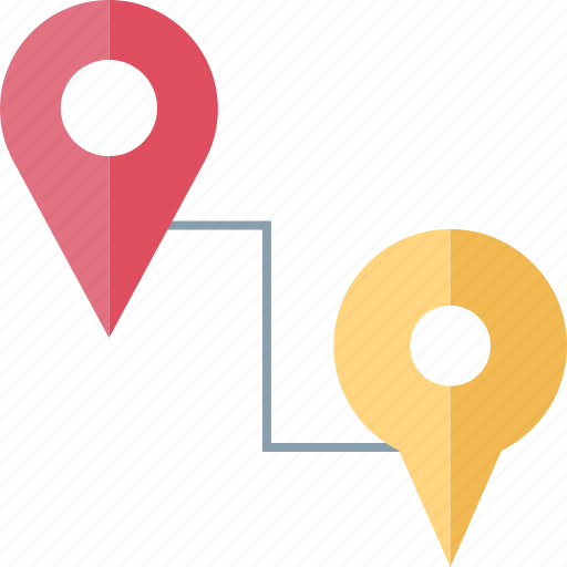 connect, connection, locations, two icon