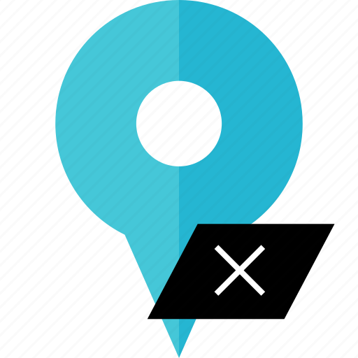 delete, location, pin, save icon