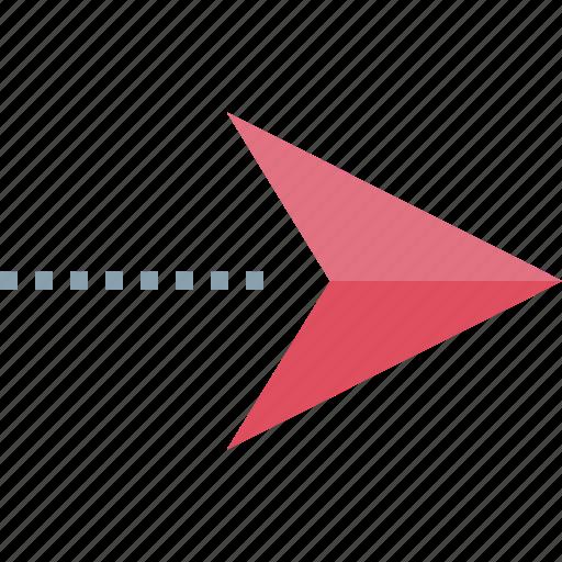arrow, google, pin icon