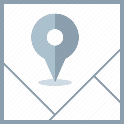 google, locate, map, pin icon