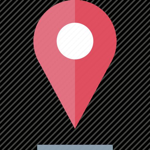 location, pin, shadow icon